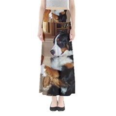 Bernese Mountain Dog Begging Maxi Skirts