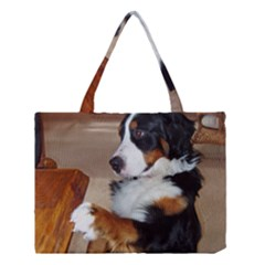 Bernese Mountain Dog Begging Medium Tote Bag