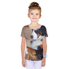 Bernese Mountain Dog Begging Kids  One Piece Tee