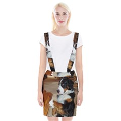 Bernese Mountain Dog Begging Suspender Skirt