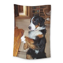 Bernese Mountain Dog Begging Small Tapestry