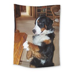 Bernese Mountain Dog Begging Medium Tapestry