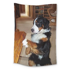 Bernese Mountain Dog Begging Large Tapestry
