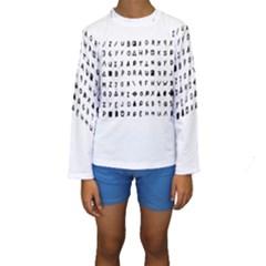 Zodiac killer  Kids  Long Sleeve Swimwear
