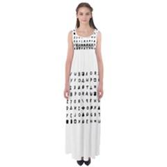 Zodiac killer  Empire Waist Maxi Dress