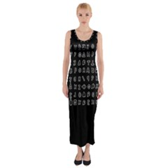 Zodiac killer  Fitted Maxi Dress