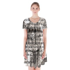 Zodiac killer  Short Sleeve V-neck Flare Dress