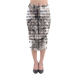 Zodiac killer  Midi Pencil Skirt