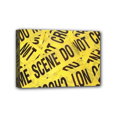 Crime scene Mini Canvas 6  x 4