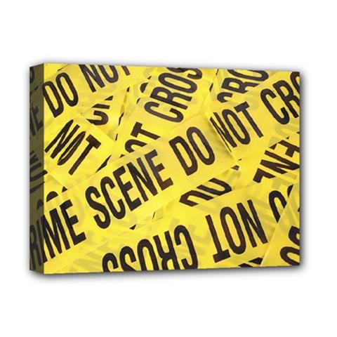 Crime scene Deluxe Canvas 16  x 12