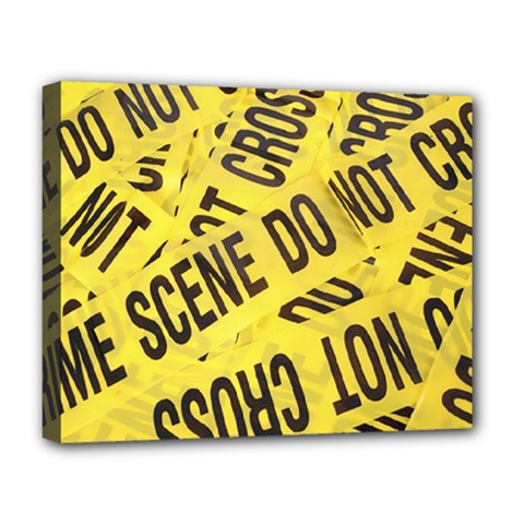Crime scene Deluxe Canvas 20  x 16