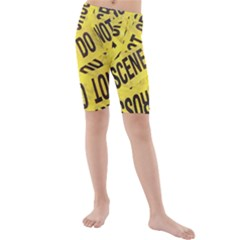 Crime scene Kids  Mid Length Swim Shorts