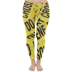 Crime scene Classic Winter Leggings