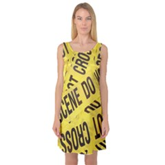 Crime scene Sleeveless Satin Nightdress