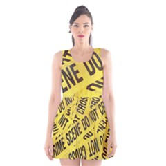 Crime scene Scoop Neck Skater Dress