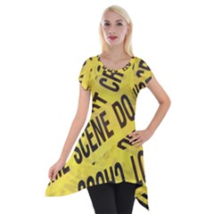 Crime scene Short Sleeve Side Drop Tunic