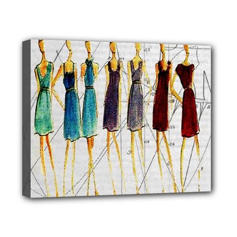 Fashion sketch  Canvas 10  x 8