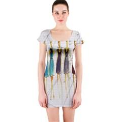 Fashion sketch  Short Sleeve Bodycon Dress