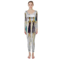 Fashion sketch  Long Sleeve Catsuit