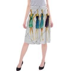 Fashion sketch  Midi Beach Skirt