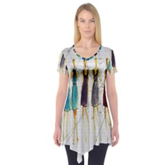 Fashion sketch  Short Sleeve Tunic