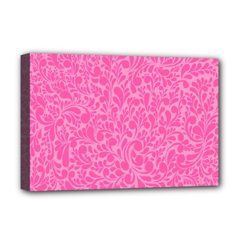 Pink pattern Deluxe Canvas 18  x 12