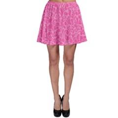 Pink pattern Skater Skirt
