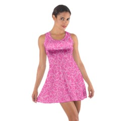 Pink pattern Cotton Racerback Dress
