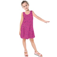 Pink pattern Kids  Sleeveless Dress
