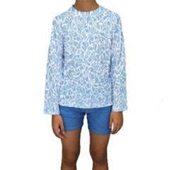 Blue pattern Kids  Long Sleeve Swimwear
