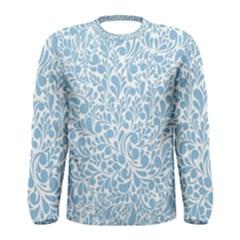 Blue pattern Men s Long Sleeve Tee