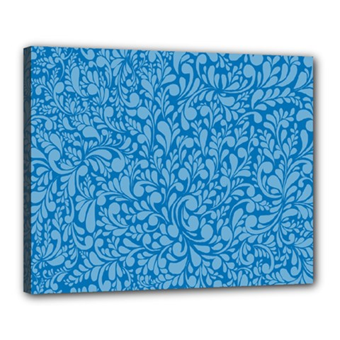 Blue pattern Canvas 20  x 16