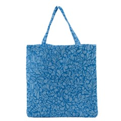 Blue pattern Grocery Tote Bag