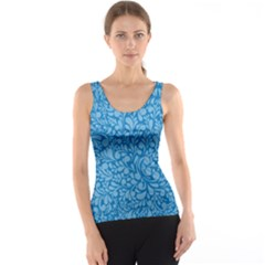 Blue pattern Tank Top