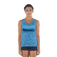 Blue pattern Women s Sport Tank Top