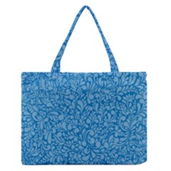 Blue pattern Medium Zipper Tote Bag