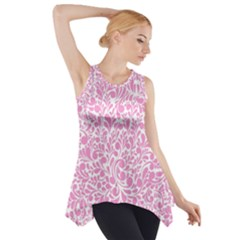 Pink pattern Side Drop Tank Tunic