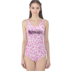 Pink pattern One Piece Swimsuit