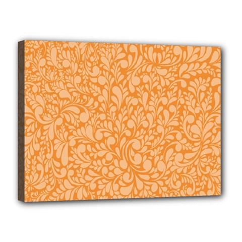 Orange pattern Canvas 16  x 12