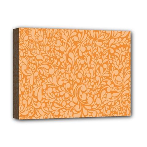 Orange pattern Deluxe Canvas 16  x 12