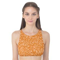 Orange pattern Tank Bikini Top