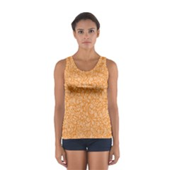 Orange pattern Women s Sport Tank Top