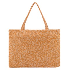 Orange pattern Medium Zipper Tote Bag