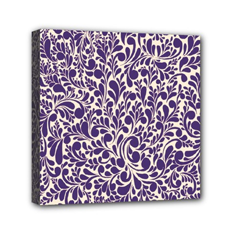 Purple pattern Mini Canvas 6  x 6