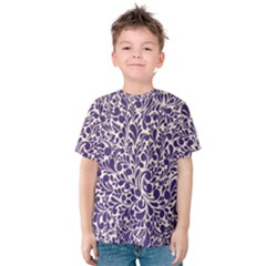 Purple pattern Kids  Cotton Tee