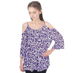 Purple Pattern Flutter Tees