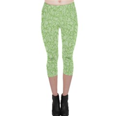 Green pattern Capri Leggings