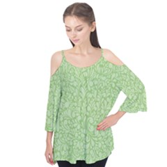 Green pattern Flutter Tees