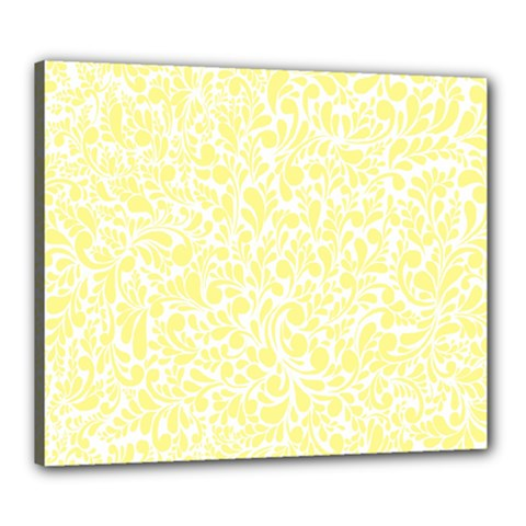 Yellow pattern Canvas 24  x 20