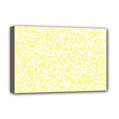 Yellow pattern Deluxe Canvas 18  x 12